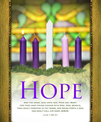 Hope Advent Bulletin Cover - AJU3356