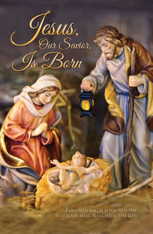 Jesus, Our Savior, Is Born Christmas Bulletin Cover - AJU3366