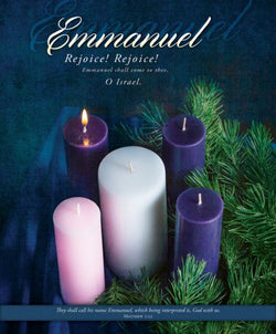 Emmanuel Advent Bulletin Cover - AJU3369