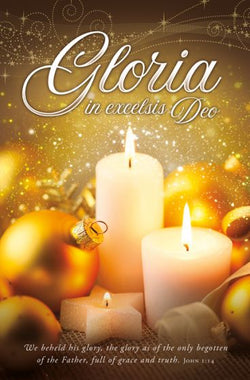 Gloria in Excelsis Deo Christmas Bulletin Cover - AJU3376