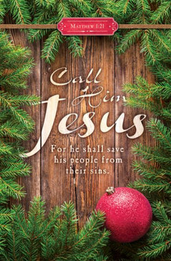 Call His Jesus Christmas Bulletin Cover - AJU3377
