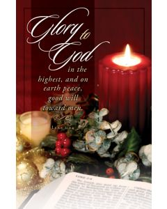 Glory to God Christmas Bulletin Cover - AJU3380