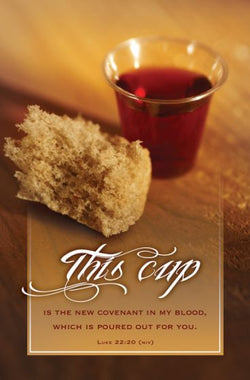 This Cup Communion Bulletin Cover - AJU4877
