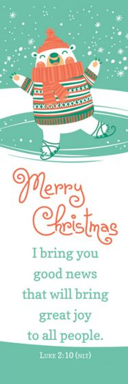 Merry Christmas Bookmark 25 pack - AJU9188