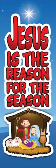 Jesus is the Reason for the Season Christmas Bookmark 25 pack - AJU9201