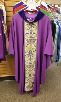 Gothic Chasuble - Purple - WN2749P-4