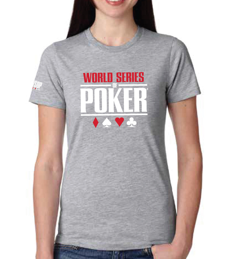 WSOP® FLAGSHIP Logo T-Shirt Heather Grey