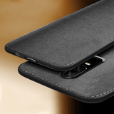 OnePlus 6T Cloth Canvas Texture Fabric Back Case