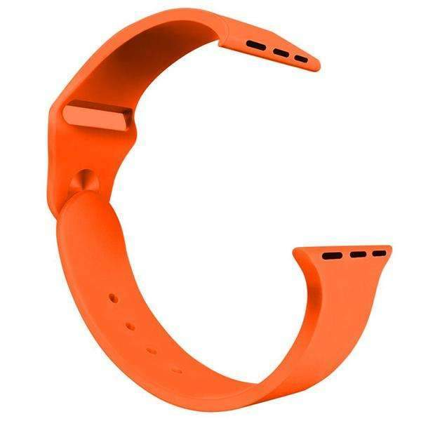 Apple Watch Sport Band Orange Color 42mm (Watch Not Included)