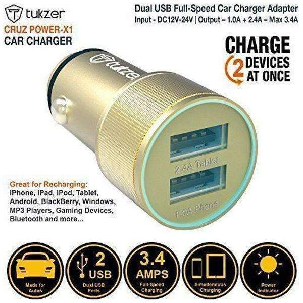 Dekkin Car Charger 3.4A Output Dual USB