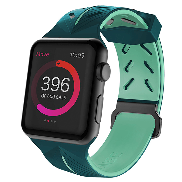 X-Doria®Apple Watch Sport Action Band Green & Mint 42mm (Watch Not Included)