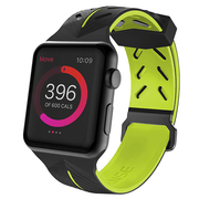 X-Doria® iWatch Sport Action Band Black & Yellow 42mm (Watch Not Included)
