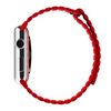 Light Red Leather Loop Band For Apple Watch 42mm (Watch Not Included)