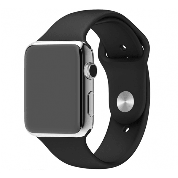 iWatch Band Silicone Sport Black Color 42mm (Watch Not Included)