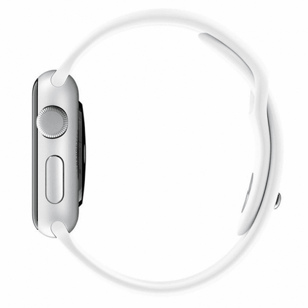 Apple Watch Band Silicone Sport White Color 42mm (Watch Not Included)