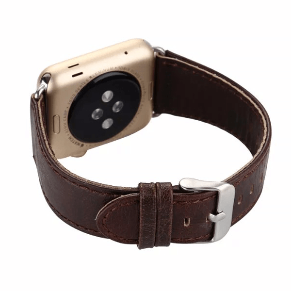 Light Dark Brown Leather  Band For iWatch 42mm (Watch Not Included)