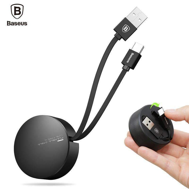 Baseus® Retractable Adjustable Mobile Phone Data Cable 2A USB Type-C Cable 100% original