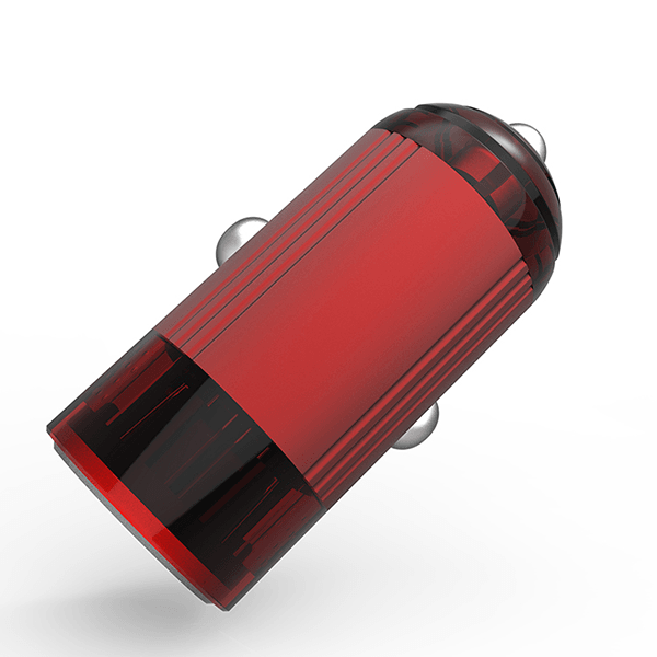EMY QC3.0 quick charger fast speed USB car charger (Red )