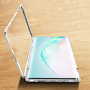 Luphie Electronic Original Glass Inside Galaxy Note 10 Magnetic Case - Silver