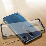 Bumper Semi Transparent Back Cover OnePlus 7T Pro Frame less Metal Ring Case