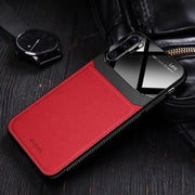Oplore Lens Protection Genuine Galaxy Note 10 Plus Leather Case Red
