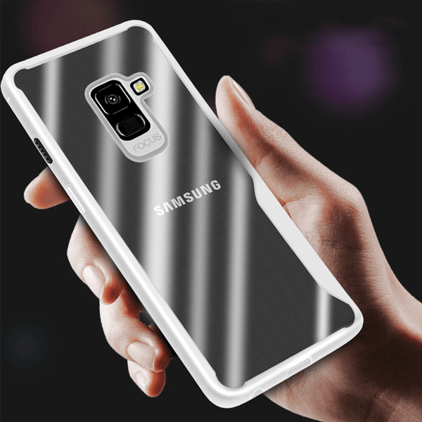 Galaxy A6 Eagle Shockproof Armor Ultra Protection Transparent Hard Case (Black)