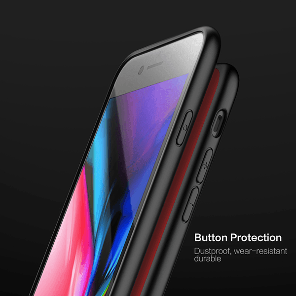 Henks®-Luxurious-Silicon-Ultra-Protection-Tempered-Glass-Case-for iPhone-8-2019-India