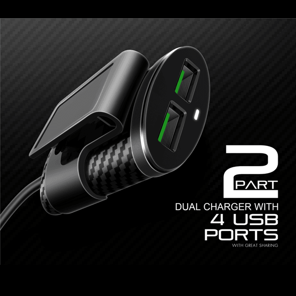 LDNIO fast charger expert 4 USB sharing Car Charger 4 Ports For C502-Black