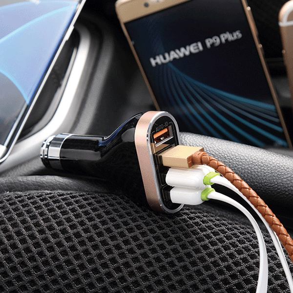 LDNIO Quick Charger 2.0 4 Ports USB Charger 6.6A Fast Car Charger