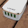 LDNIO Fast Charging Wall Charger 4 USB 4.4A Charger Phone Adapter
