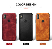 Redmi Note 5 Pro Business Vintage Style Leather Back Case