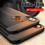 iPhone X/XS Anti-knock Soft Anti Slip TPU Leather Case