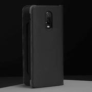 OnePlus 6T Leather PU Ultra Protective Shield Flip Case