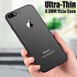 iPhone 7 Plus Ultra Slim Soft Silicon Logo Cut Paper Bag Back Case