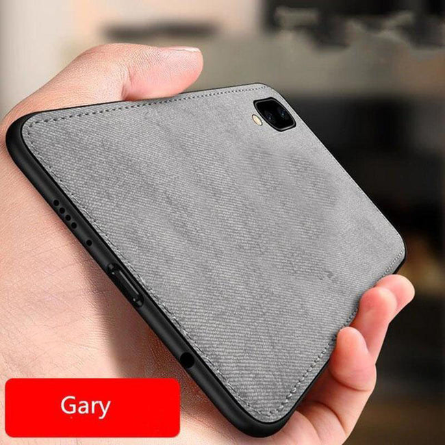 Vivo V11 Pro Cloth Canvas Texture Fabric Leather Case