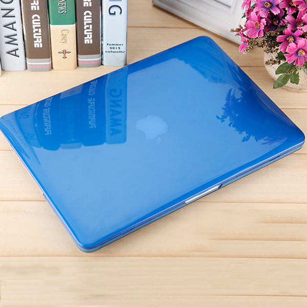 MacBook Air Blue Retina Case Clear Laptop Cover With Logo Cut (Glossy Finish)