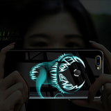 Oppo A7 Radium Venom logo Glow Light Illuminated Case (Venom Logo)