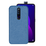 Oppo F11 Pro Cloth Canvas Texture Fabric Back Case
