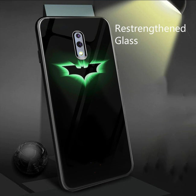 Oppo Reno Radium Batman logo Glow Light Illuminated Case