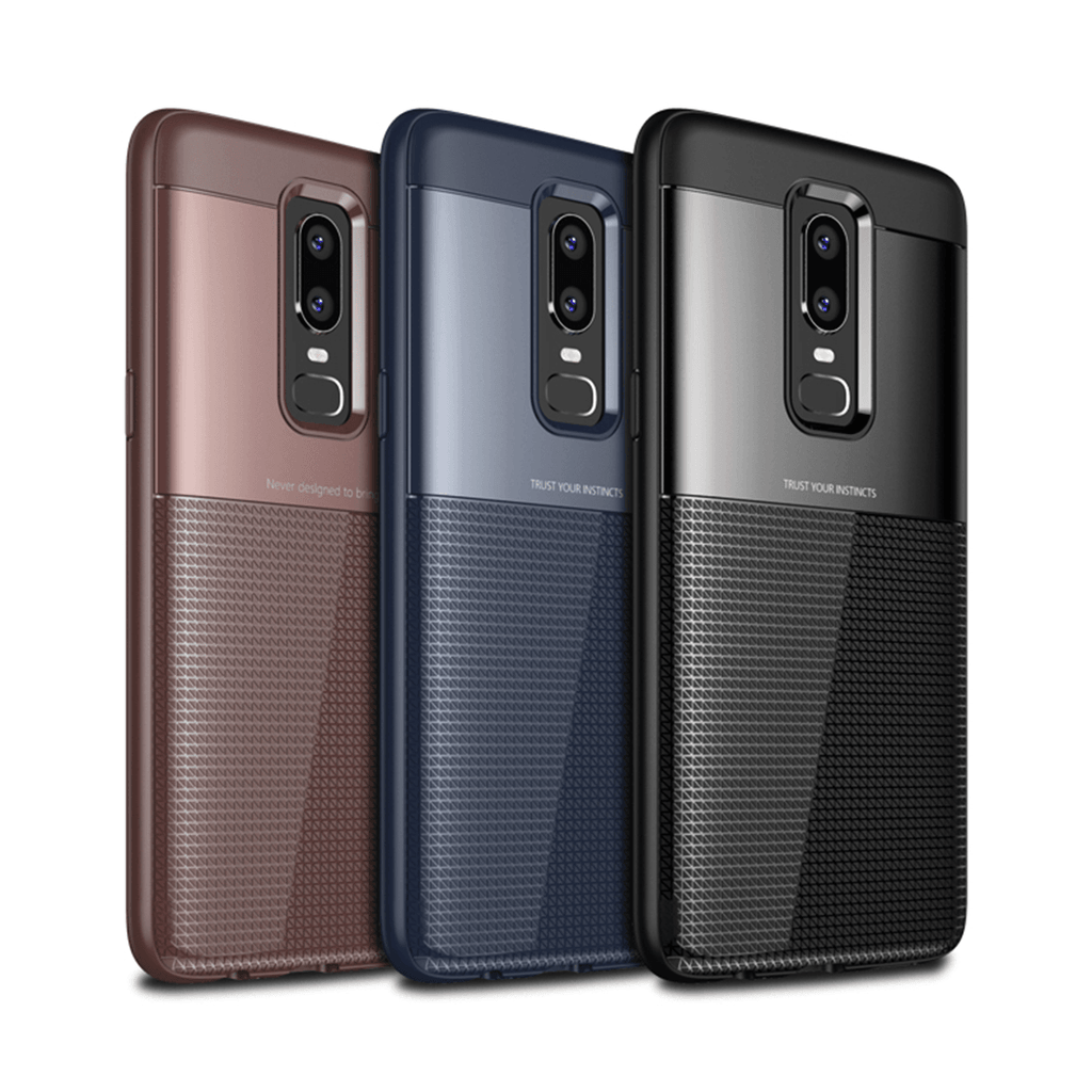 OnePlus 6 Henks®Luxurious Armor Shell Toraise Back Case