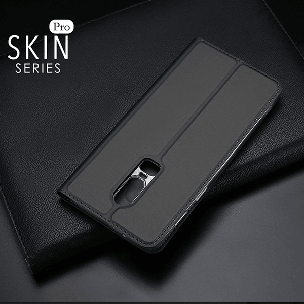 OnePlus 6 DUX DUCIS® Skin PU Leather With Card Slot Flip Case