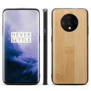 OnePlus 7T Wooden Texture & Side Soft Flexible & Slim Case (Light Wood)