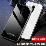 OnePlus 6T Luxury Slim Tempered Glass Case
