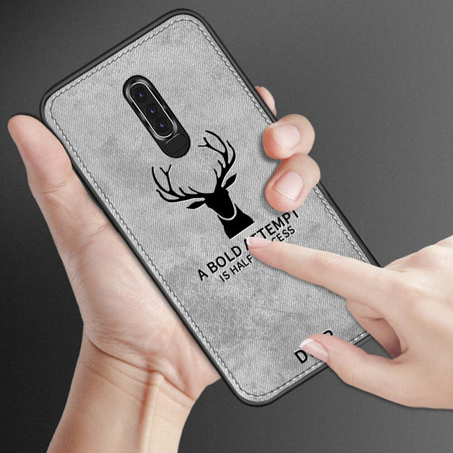 OPPO F11 Pro Cloth Deer Canvas Texture Fabric Leather Case