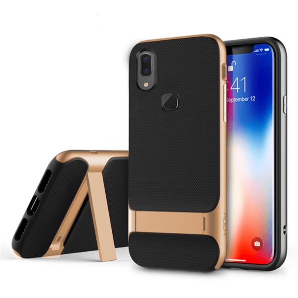 Vivo V9 Dual Hybrid With KickStand Hard Case