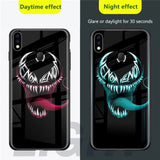 Redmi Note 6 Pro Radium Venom logo Glow Light Illuminated Case (Venom logo)