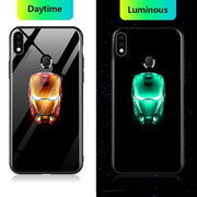 Redmi Note 7/7 Pro Radium Real Iron Man logo Glow Light Illuminated Case