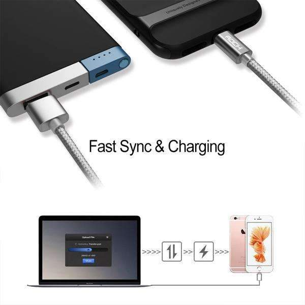 ROCK Micro C Type 100% Original USB Fast Charging Cable
