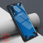 Rzants Galaxy A50 Transparent Hard Shockproof Rugged Slim Back Case