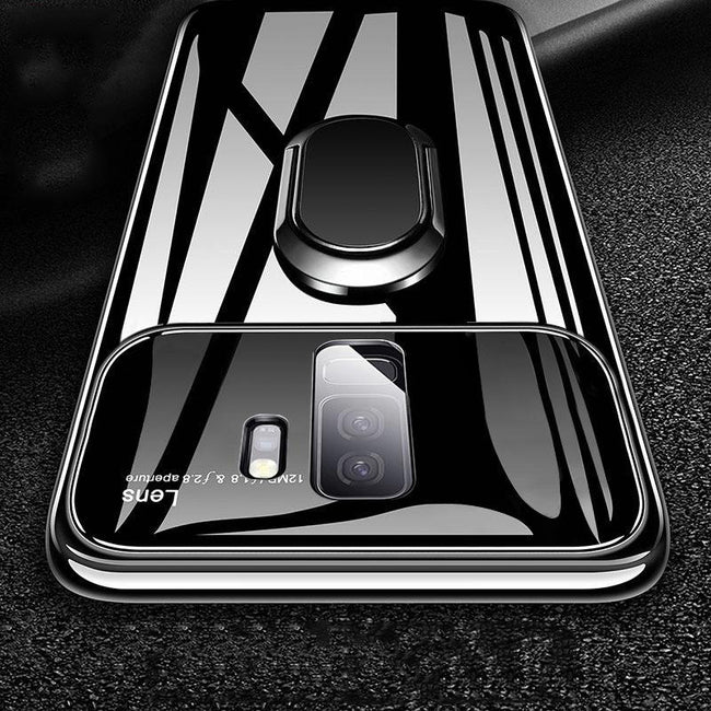 Galaxy J8 Ultra Protection Mirror Effect Lens Ring Hard Case